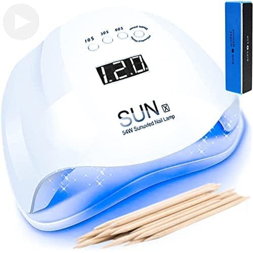 SUN X 2021 Lampada LED UV Fornetto Unghie 5° Timer e Sensore Movimento con doppia potenza 48W / 54W per Manicure e Pedicure Forno Asciuga Smalto Professionale per Semipermanente e Ricostruzione Gel