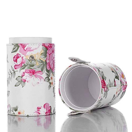 Porta Pennelli Make Up Pinsel Halter PU Leder Kosmetik Organizer Travel Make-up Cup Tasche Schwarz
