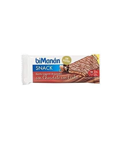 Bimanan – Barrette senza glutine cioccolato con latte, 5 unità Bimanan – 3175681288058
