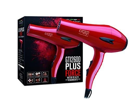 ID Italian Design | Phon professionale Gti, 2200W con 2 velocità e 3 binari di temperatura, colore rosso