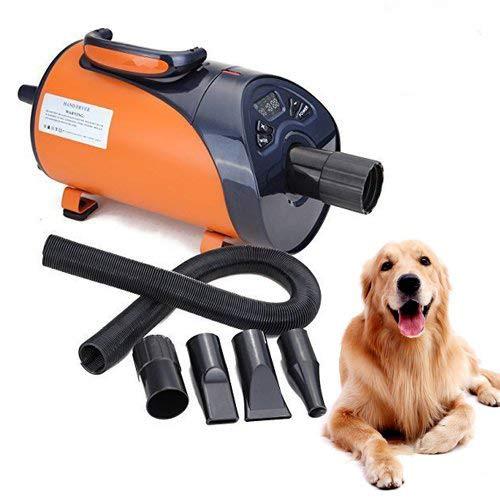 Ridgeyard Asciugacapelli per cani silenzioso, display LED, 8 velocità, 2800W