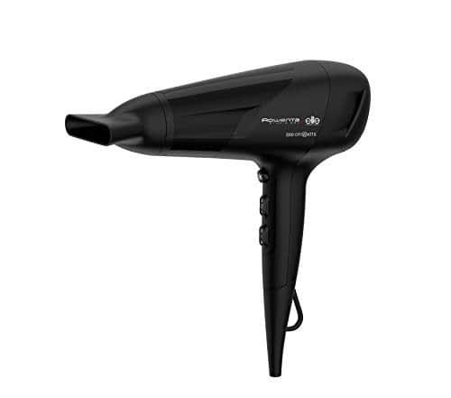 Rowenta CV5812, Studio Dry – Blow Dryer, Asciugacapelli Studio Dry, Tecnologia Effiwatts a risparmio energetico, 6 Impostazioni di Velocità/Temperatura, Facile da ripulire, Nero