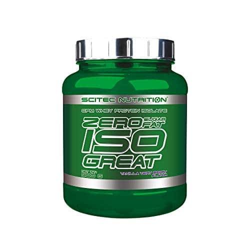 Scitec Nutrition Zero Isogreat, zero sugar/zero fat, isolato di proteine del siero di latte, 900 g, Vaniglia e bacche selvatiche