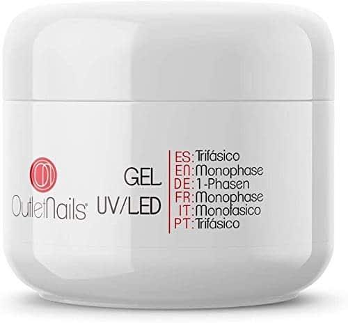 Gel Monofasico 3 in 1 per Ricostruzione Unghie da 50ml Trasparente | Outlet Nails