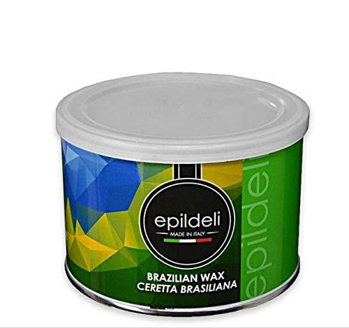 CERA BRASILIANA 400 gr CERETTA INDOLORE DEPILAZIONE BARATTOLO PER SCALDACERA PROFESSIONALE PER ESTETISTA