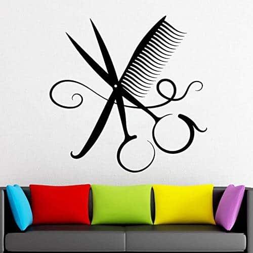 Adesivo per vetrofanie per parrucchiere Parrucchiere Strumenti per parrucchieri Forbici Negozio di barbiere Adesivo per salone di bellezza Adesivo altro colore 57x57cm